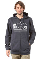 BURTON Rec Griswold Hooded Zip Sweat HEATHER ECLIPSE