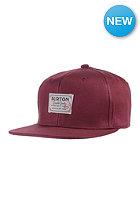 BURTON Riggs Snapback Cap zinfandel