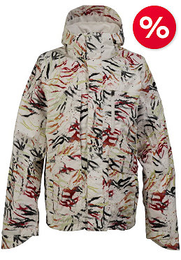 BURTON Slub Jacket 2010 bright white fruity tiger print