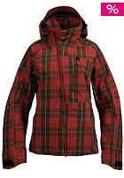 BURTON Womens AK Static 3L Jacket 2010 red heat yarn dyed plaid