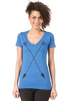 BURTON Womens Archer S/S T-Shirt HEATHER COBALT BLUE