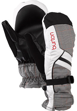 BURTON Womens Baker Undermitt Glove 2012 bright white prince of wales