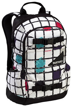 BURTON Womens Day Hiker 20L white watercolor squares