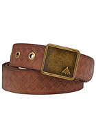 BURTON Womens Embassed Belt brown leather