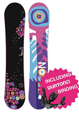 BURTON Womens Feather 2012 140cm inkl. BURTON Outpost Bindung black