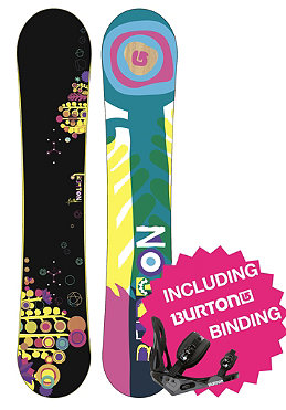 BURTON Womens Feather 2012 148cm wide inkl. BURTON Outpost Bindung black