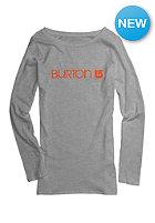 BURTON Womens Her Logo Longsleeve gray heather