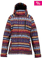 BURTON Womens Horizon Jacket antigua stripe