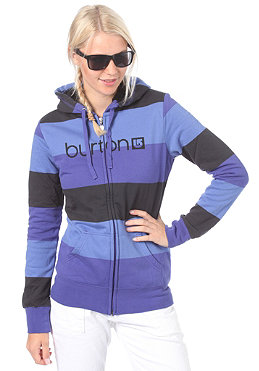 BURTON Womens HR Logo Shrpa Hooded Zip Sweat twilight