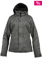 BURTON Womens Jet Set Jacket heathered tru blk