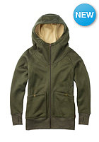 BURTON Womens Journey Flc Jacket olive night heather