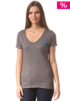 BURTON Womens LG VT FLL V Neck S/S T-Shirt gray heather