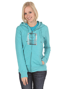 BURTON Womens Logo Fill Hooded Zip Hooded heather turquoise