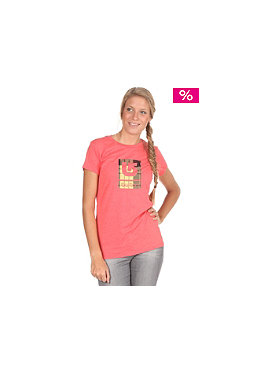 BURTON Womens Logo Fill S/S T-Shirt heather berry