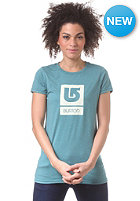 BURTON Womens Logo Vertical S/S T-Shirt heather seaside