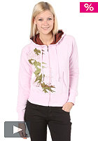 BURTON Womens Long Premium Hooded Zip Sweat pink