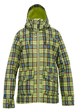 BURTON Womens Method Jacket 2012 aloe gypsy plaid