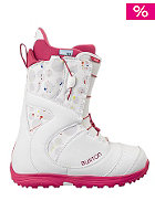 BURTON Womens Mint Boot white print