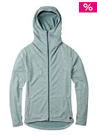 BURTON Womens Mtn Negani Hooded Zip Knit Sweat sea pine/vanila strp