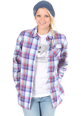 BURTON Womens Player Flannel Shirt 2012 bright white/prismatic