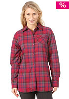 BURTON Womens Player Flannel Shirt 2012 garnet prismatic plaid