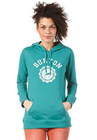 BURTON Womens REC CO-ED Hooded Sweat HEATHER TIDAL BORE