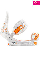 BURTON Womens Stiletto Est Binding white and orange