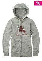 BURTON Womens STMPD MTN Hooded Zip Sweat gray heather