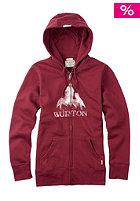 BURTON Womens STMPD MTN Hooded Zip Sweat zinfandel