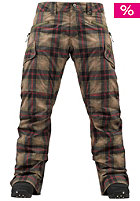 BURTON Womens WB Lucky Pant olive radiant plaid