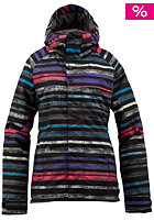 BURTON Womens WB Method Jacket true black palette stripes