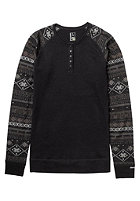 BURTON Womens Wool Henley true black