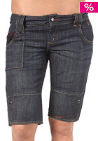 C1RCA Womens Black Dragon Denim Shorts