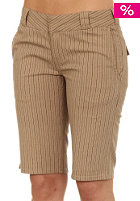 C1RCA Womens Impalita Shorts tan/black pinstripe