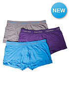 3 Pack Low Rise Boxershort waterfall/eggplant/eel grey