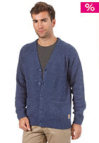 CARHARTT Anglistic V-Neck Cardigan blue heather