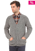 CARHARTT Anglistic V-Neck Cardigan dark grey heather