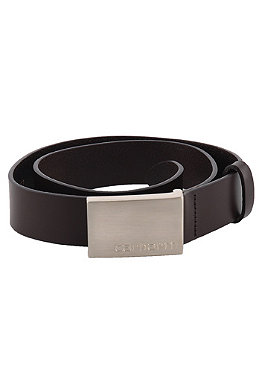 CARHARTT Army Leather Belt dark brown/silver