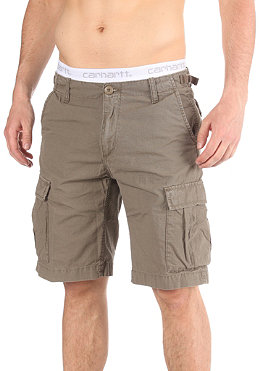CARHARTT Aviation Bermuda Shorts Cotton Columbia Ripstop Moss stone washed