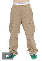 CARHARTT Cargo Pant cotton leather stone washed