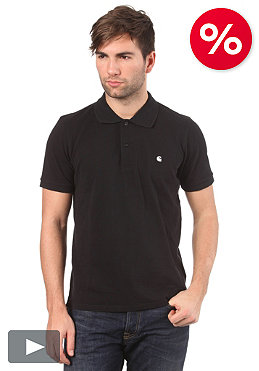 CARHARTT Classic S/S Slim Fit Polo Shirt black