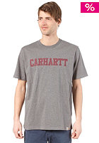CARHARTT College S/S T-Shirt dark grey heather/ cranberry