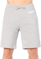 CARHARTT College Sweat Bermuda Short grey heather/white