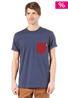 CARHARTT  Contrast Pocket S/S T-Shirt blue/cranberry