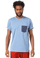 CARHARTT  Contrast Pocket S/S T-Shirt blue heather/navy heather