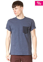 CARHARTT Contrast Pocket S/S T-Shirt blue penny heather/navy