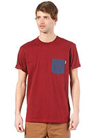 CARHARTT  Contrast Pocket S/S T-Shirt cranberry/blue