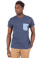 CARHARTT  Contrast Pocket S/S T-Shirt navy heather/blue heather