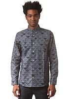 CARHARTT Crandall L/S Shirt quilt print, jet rigid
