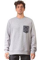 CARHARTT Eaton Pocket Sweat grey heather/jet pocket: quilt print chambray